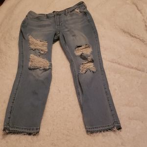 Hollister Distressed High Rise skinny crop Jeans